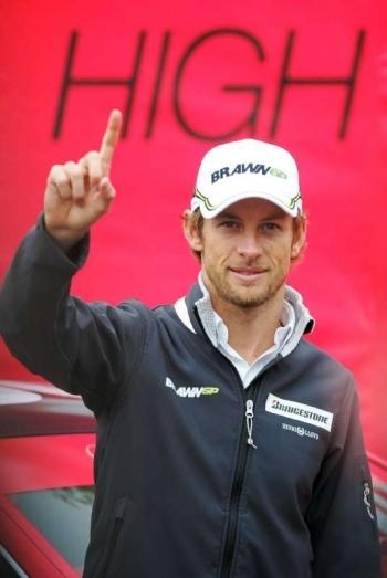 VirginMedia Speedweek50, Jenson Button, Bluewater.Picture shows:Jenson Button